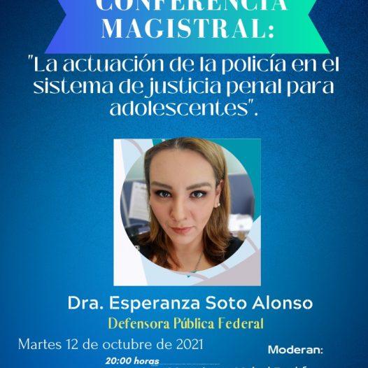 «La actuación de la policía en el sistema de justicia penal para adolescentes.»